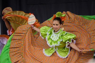 Performers from Mexico Vivo perform at Canada Day, Castle Park, Port Coquitlam, July 1, 2012