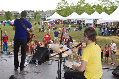 Will Stroet performance with kids participating. Canada Day, Castle Park, Port Coquitlam, July 1, 2012