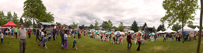Panoramic view of Canada Day, Castle Park, Port Coquitlam, July 1, 2012