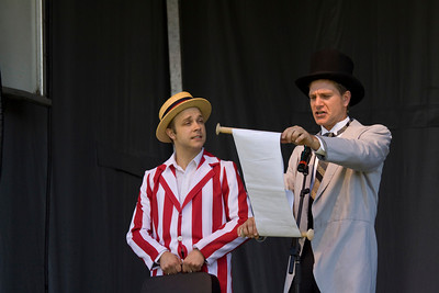 Canada Day 2013, Port Coquitlam, Castle Park. Second Story Theatre historical re-enactment 1913