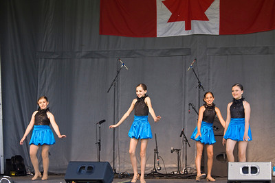Canada Day 2013, Port Coquitlam, Castle Park. Talent Showcase Stage One Dancers
