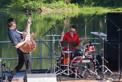 Canada Day 2013 at Lafarge Lake, Coquitlam. Water Stage Hilary Grist performs