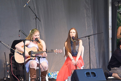 Canada Day 2013, Port Coquitlam, Castle Park. Talent Showcase Teagan and Emily