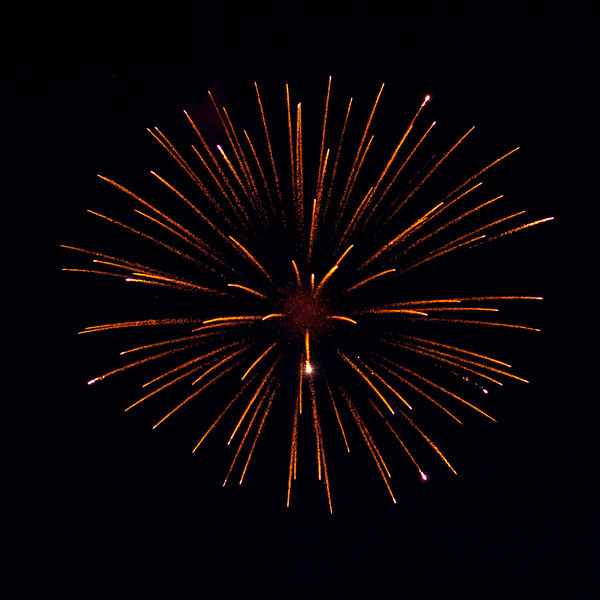 2010 July 1st in Moosonee: Canada Day Fireworks. Available light photography.