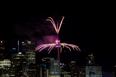 CN Tower Fireworks