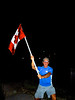 Ford, my brother-in-law, waving the Canadian flag.