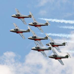 Canadian Forces Snowbirds Over Cobourg