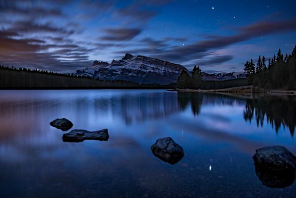 Night Sky at Two Jack Lake, Banff National Park - Large