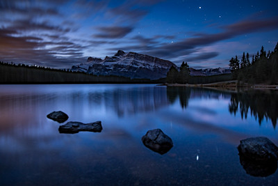 Night Sky at Two Jack Lake, Banff National Park - Large