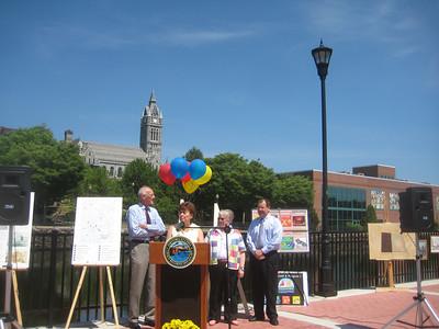 Mayor Elaine Pluta speaking.