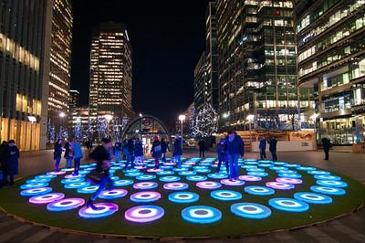 Canary Wharf Lights 2016