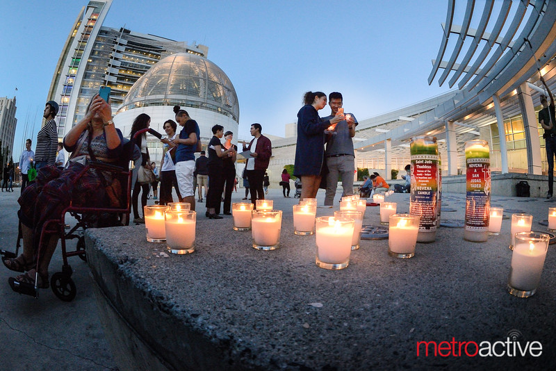 Orlando FLA: Candlelight Vigil ~ San Jose City Hall  13 June 2016