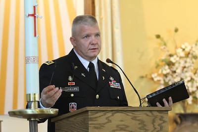 Lt. Col. Robert E. Phillips, garrison chaplain, correlates the closing of the chapel and the dispersing of its congregants to the words from Genesis 12:1-9 (Abram Journeys to Egypt).  (Page 11, June 23, 2011 issue)