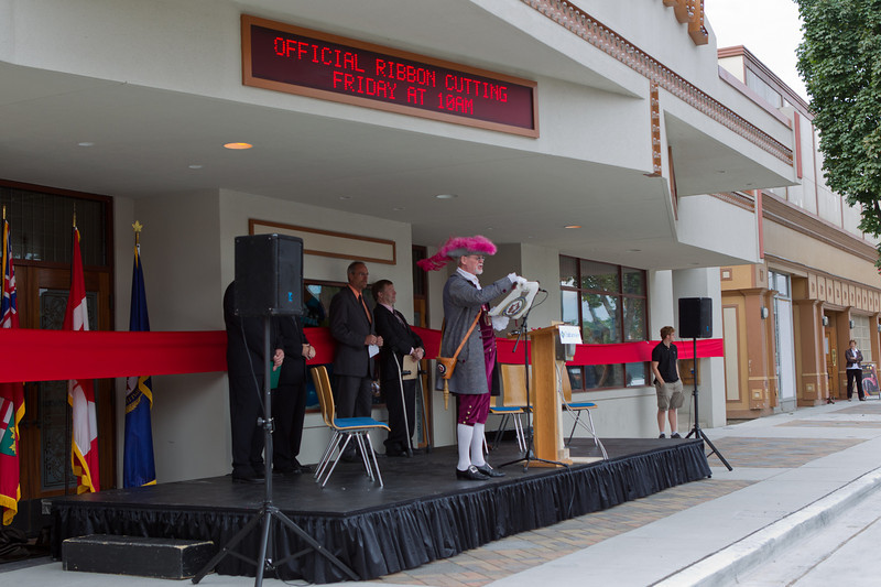 Official ribbon cutting and re-dedication of the Capitol.