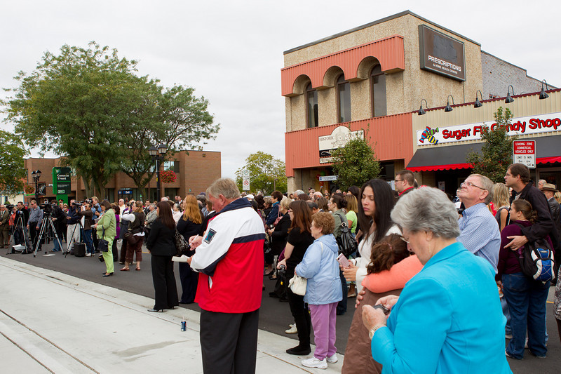 CK citizens gather to celebrate the re-dedication of the Capital Theatre