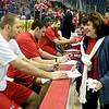 Capitals Season Ticket Holder Skate: Eric Fehr, Jeff Schultz, Brooks Laich  and Viktor Kozlov sign autographs