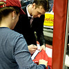 "Capitals Season Ticket Holder Skate: Brent Johnson personalizes Courtney's jersey ""Happy Birthday Courtney - All the Best Brent Johnson"""