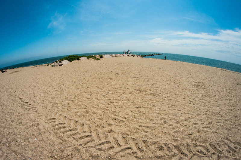 Hammonasset Beach thru a Fisheye<br /> Madison, CT