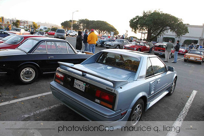 Hard to believe, but '80's Japanese cars now qualify for the 25 year-old rule.  Note the CRX across from my MR2.