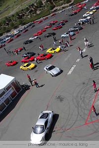 Ferrari club members get to run on the track.