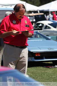Kevin Enderby judges the Ferraris.