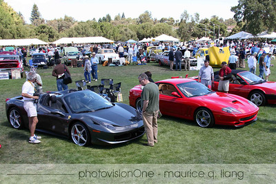 Larry Brackett's Ferrari 458 Spider is the newest Ferrari and attracted a lot of attention.