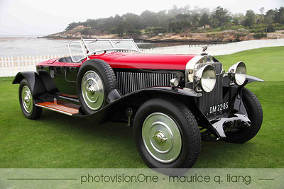 2012 Pebble Beach Concours, August 19, 2012.  Robert Pass' 1925 Isotta Fraschini Boattail Speedster.  Won its class.