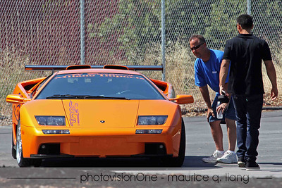 Al Burtoni arrives in his Diablo.