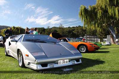 Lamborghini exhibit. - 1989 Countach 25th anniversary edition