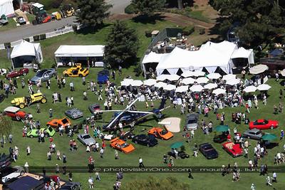 Lamborghini exhibit from above.