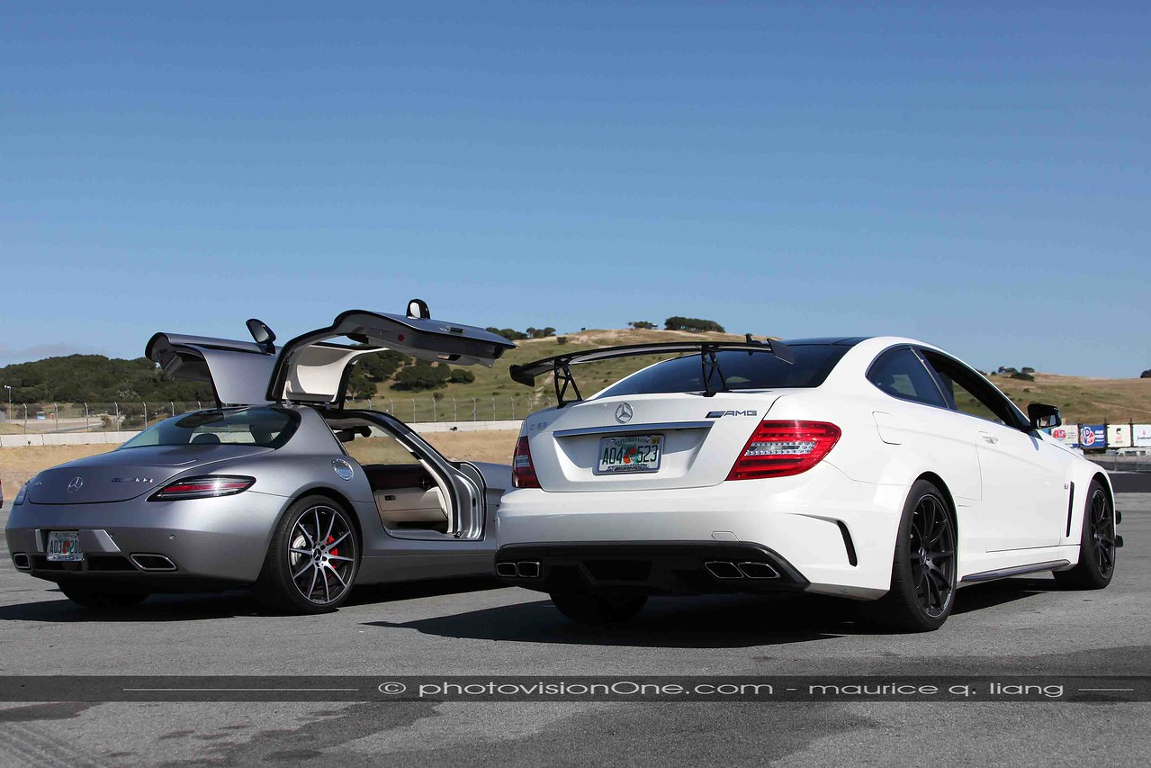 Mercedes brings two special cars, the SLS AMG GT and the AMG C63 Black Series.