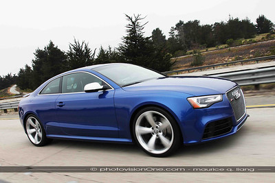 The Audi RS5.  Lightest, most nimble, but with some front wheel drive torque steer.