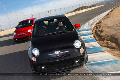 Abarth Track Experience at Laguna Seca, Feb 18, 2014.