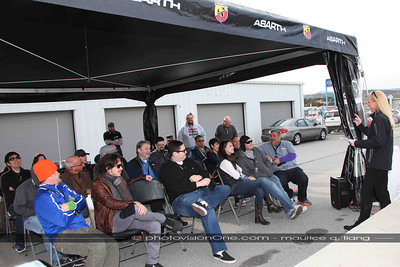 Participants are excited to drive on the famed Laguna Seca track.