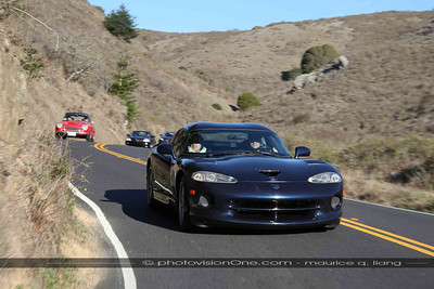 John and Nikki McDonald follow us in their Viper GTS ACR.