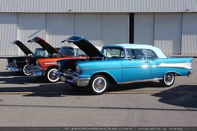The '55, '56, '57 Chevy trio.