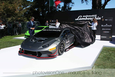 Lamborghini unveils the Huracan race car.