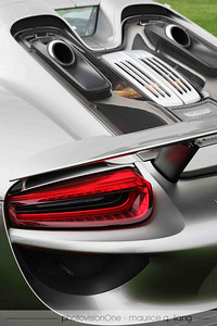 Detail shot of 918 Spyder.