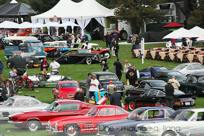 View of Quail showing the wide range of cars at the show.