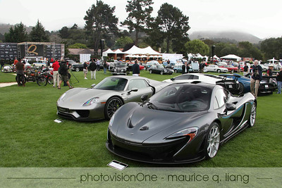 Larry Brackett's supercars, the McLaren P1 and the Porsche 918 Spyder.