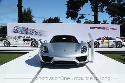 Porsche manufacturer exhibit.