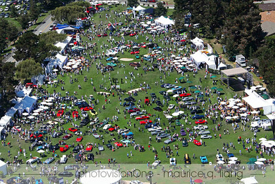 Aerial view of Quail show.