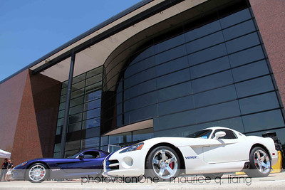 Joanne Gray's violet '08 coupe and Tom Sidlik's '06 VOI edition.