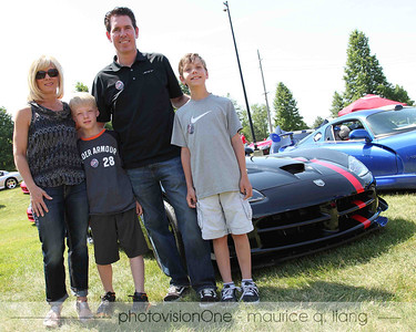Mark Trostle & family check out the car show.