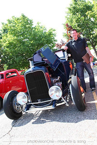 Head of SRT & Motorsports Design, Mark with his '32 Hot Rod.