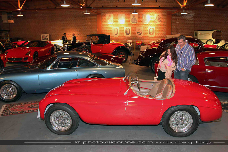 New members Ron and Pearl check out this classic Ferrari.