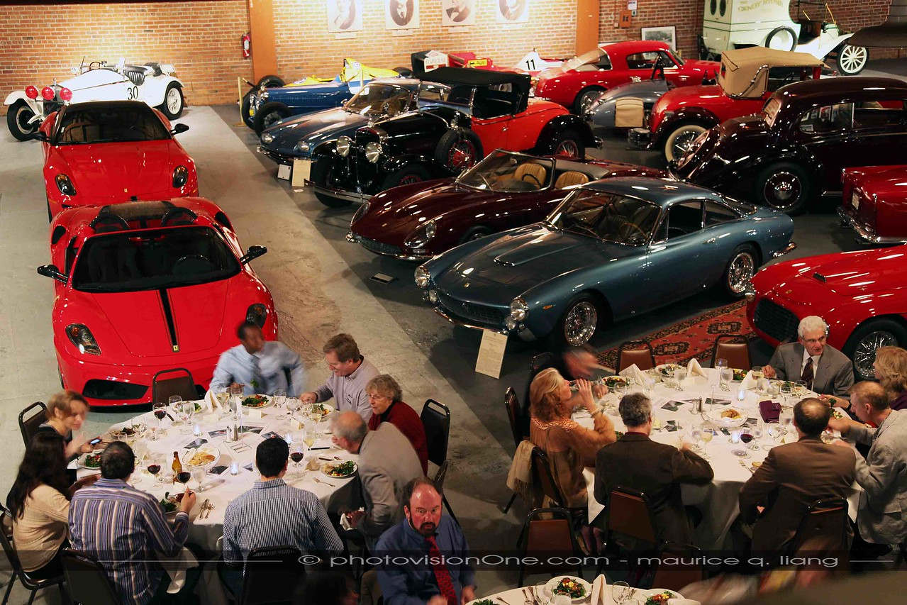 Dinner with the cars.