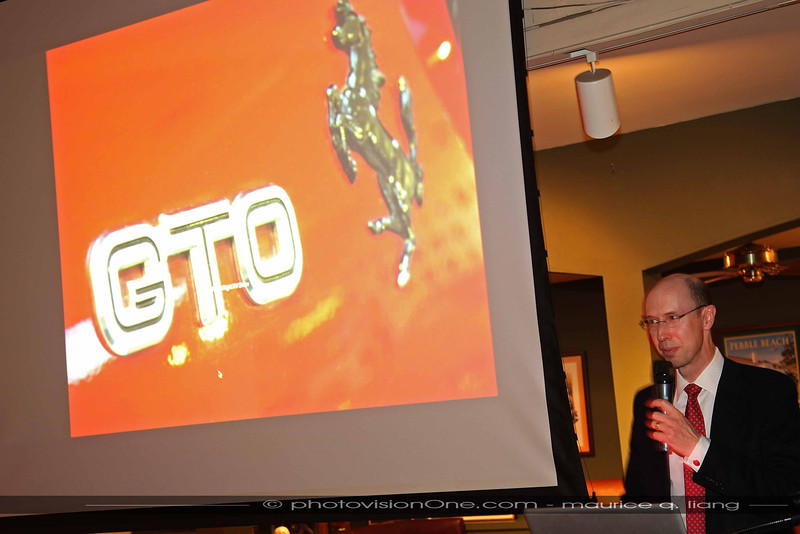 Henry gives a presentation about the Ferrari 288 GTO.