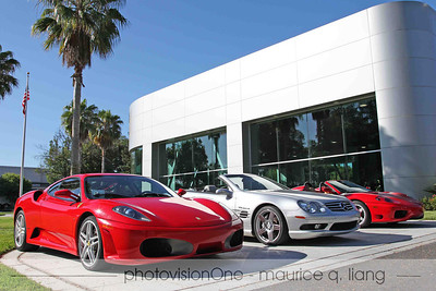Cars prepped and waiting at Club Sportiva.