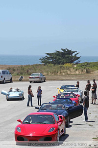 Change of cars at the coast.